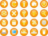 computer and web vector icons