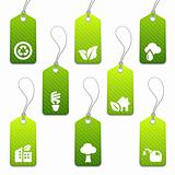 Green mini eco tags