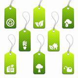 Green mini eco tags