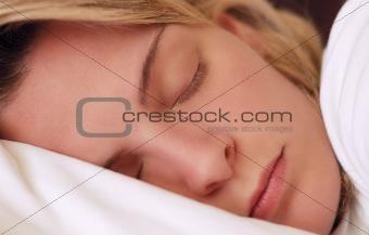 Beautiful young woman sleeping