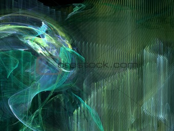 Abstract background. Green - yellow palette.