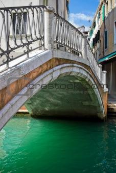 Bridge over a canal in Venice
