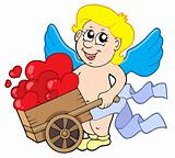 Cupid with wheelbarrow