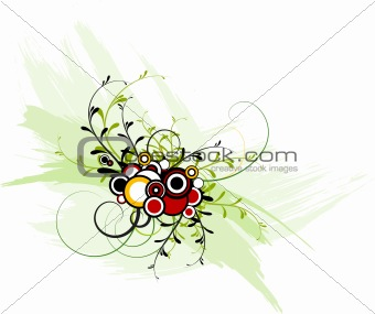 Abstract floral / grunge background