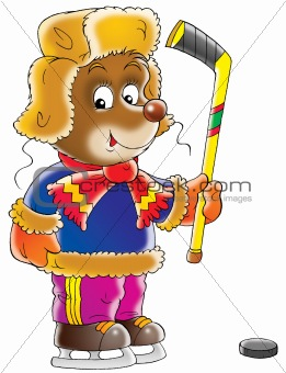 Bear Hockey player