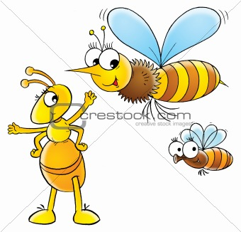 Bee and ant