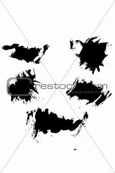 Grunge ink splat brush