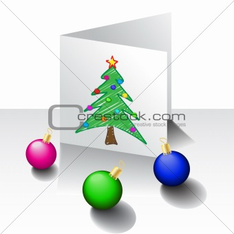 Christmas card with decoration