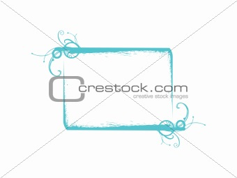 abstract vector frame in green