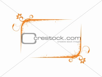 abstract vector frame in yellow