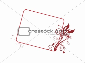 abstract vector frame, brown illustration