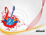abstract vector ilustration of guitar and elements, wallpaper