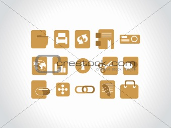 abstract vector khaki icons element illustrations