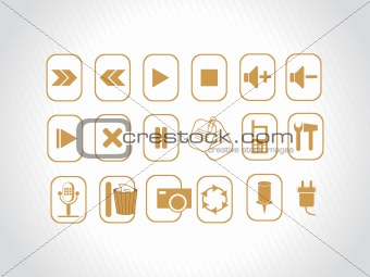 abstract vector khaki logo element illustrations