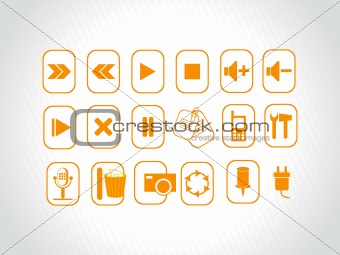 abstract vector orange logo element illustrations