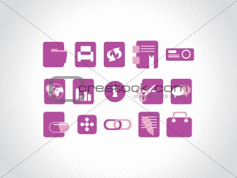 abstract vector purple icons element illustrations