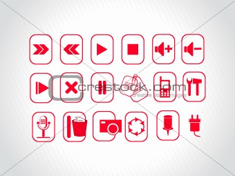 abstract vector red logo element illustrations