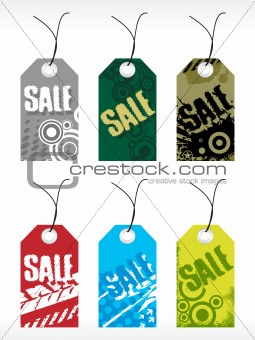 abstract vector tag series set12