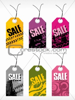 abstract vector tag series set17