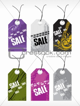 abstract vector tag series set2