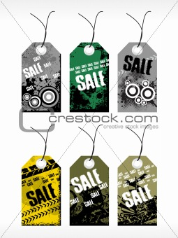 abstract vector tag series set6