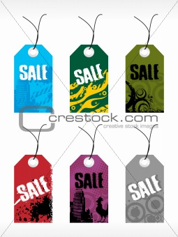 abstract vector tag series set8