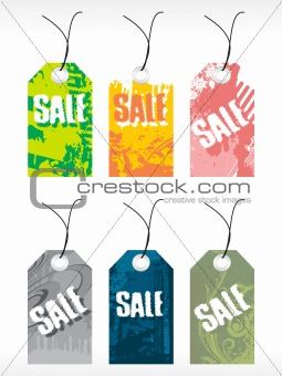 abstract vector tag series set9