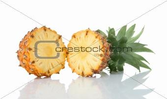 Sliced ripe pineapple