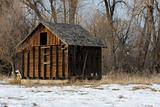 old, small barn in an abandoned farm in Colorado