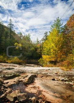 Autumn Foliage Blue Ridge Mountain Scenery