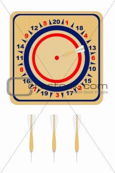 American wooden dartboard