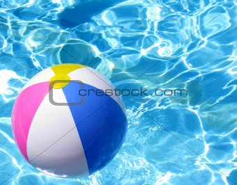 Beach Ball In Swimming Poll
