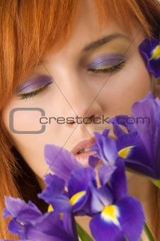 closed violet eyes