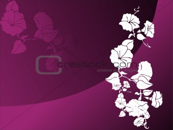 abstract vector wallpaper of floral themes in gradient purple
