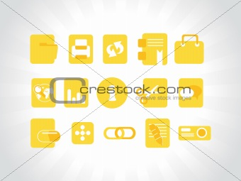 abstract vector yellow icons element illustrations