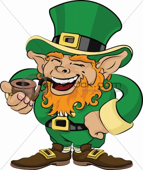 Illustration of St. Patrick's Day leprechaun