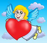 Cupid on sky