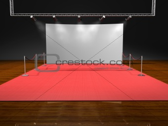 red stage lighting on black background
