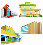 Various vector buildings