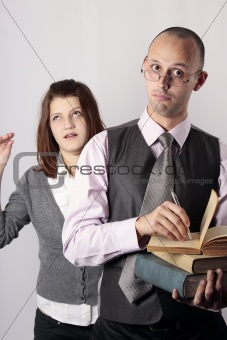 annoying professor and teen age girl