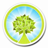 Ecological tree badge design