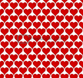 Valentine hearts seamless wallpaper