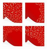 Beautiful peeling Valentine cards