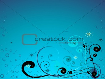 Blue background with pattern