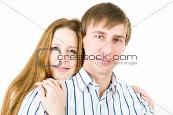 Portrait of pretty couple