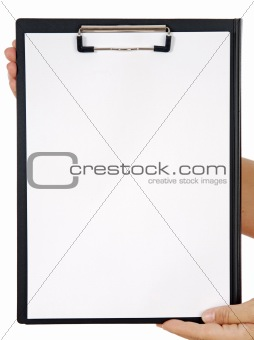 Clipboard and hands