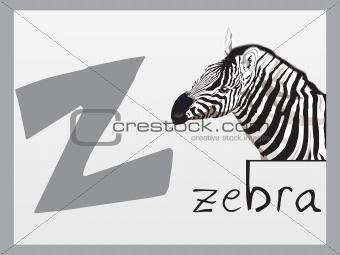 alphabet series z, illustration
