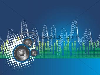astract blue vector illustartion of disco theme