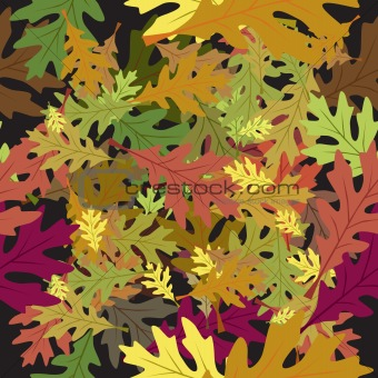 Seamless foliage leaves autumn