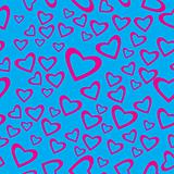 Heart shaped seamless pattern